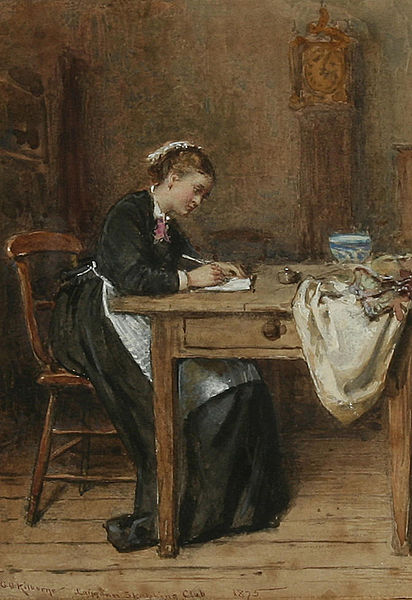 Writing-George_Goodwin_Kilburne_Writing_a_letter_home_1875