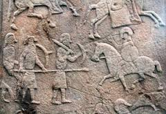 Carving of warriors